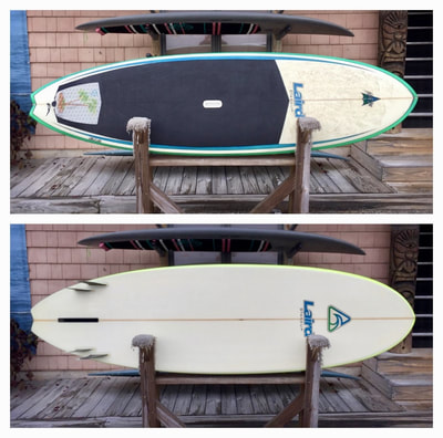 "USED SUP, USED PADDLEBOARD,8'x28.5""x4"" Laird Pearson $800"