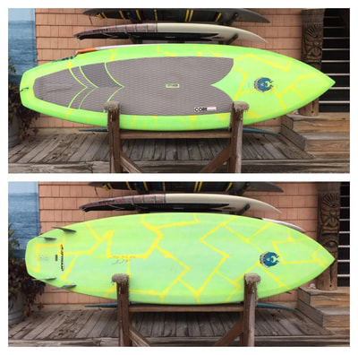 "USED SUP, USED PADDLEBOARD,9'X31.5""X4 3/4"" 137L CoreVac Blade  $1200"