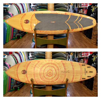 "COREVAC, CANNIBAL, SUP, PADDLEBOARD, BLADE 9'6"" x 31 3/8"" x 4 5/8"" 138L   COREVAC CANNIBAL SUP BLADE is a high performance surf design. It has a double concave and chined rails for increased speed, drive, and maneuverability. 5 fin setup allows for a multitude of configurations for different types of waves and rider preferences. Works well in all wave heights."