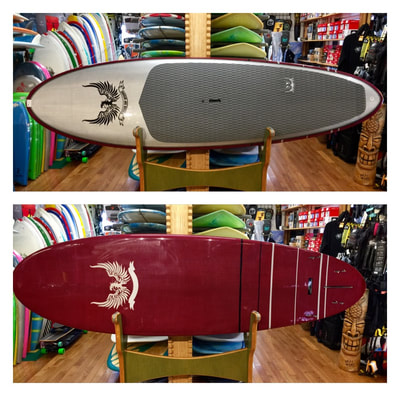 "STELLER, SUP, PADDLEBOARD, 9'6"" x 31"" x 4.25"" 135 L. Steller ""2WIN- Drive"" is an easy-to-surf-and-paddle SUP due to its placement of volume, whether you're gliding into waves, or going out for a casual flatwater paddle.  Internal flex management components create great responsiveness and internal carbon fiber deck patch makes this board super strong. The 2WIN- Drive has a 4+1 fin set-up and works well in a 2-foot face and up."