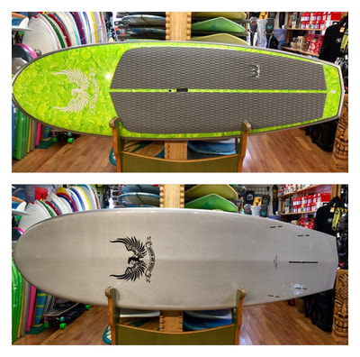 "STELLER, SUP, PADDLEBOARD, 9'0"" x 33 1/4"" x 4 3/8"" 153 L Steller ""D Wing"" is a playful little 9'0"" rocket. Being wide and skatey, loose in and out of your turns, with a low entry and a stable wide diamond tail. This board can be ridden with multiple fin applications depending on the size of the wave and shape, along with your personal preference. This board works well in small to medium surf."