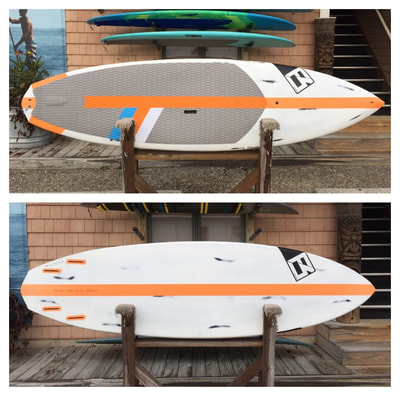 "USED SUP, USED PADDLEBOARD,9'4""x 30""x4 3/8"" 135L  Rawson Carbon $1400"