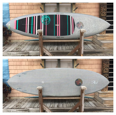 "USED SUP, USED PADDLEBOARD,9'x29.5""x4 1/4"" RC Custom Carbon/Innegra $1500"