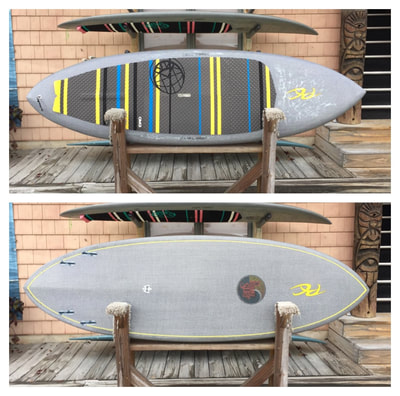 "USED SUP, USED PADDLEBOARD,8'x28.5""x4 1/8"" RC Custom Carbon/Innegra $1500"